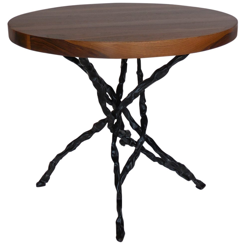 Dos Gallos Custom Walnut Vine Side Table