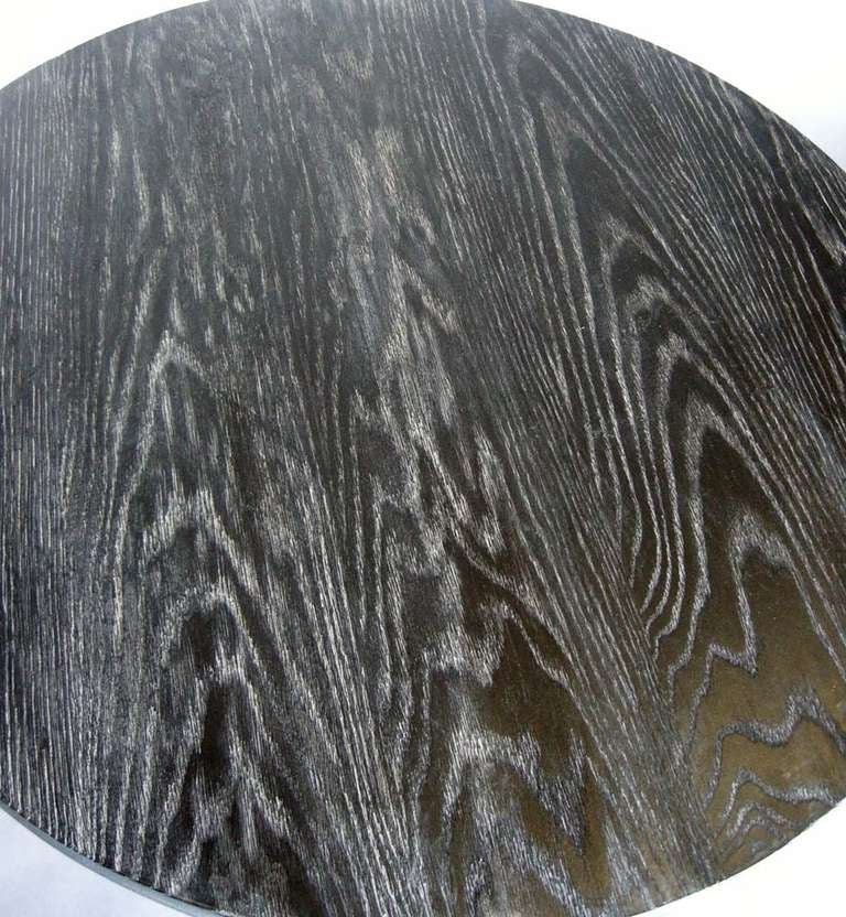 American Ultimate Screw, Custom Oak Wood Round Screw Pedestal Table by Dos Gallos Studio For Sale