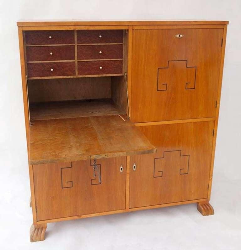swedish art deco secretaire at 1stdibs. Black Bedroom Furniture Sets. Home Design Ideas