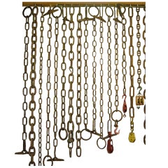 Selection Antique Chains and Pulleys