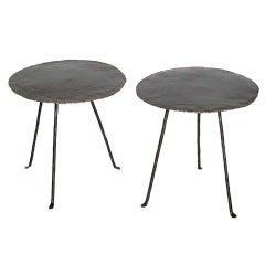 Dos Gallos Custom Round Tripod Side Tables