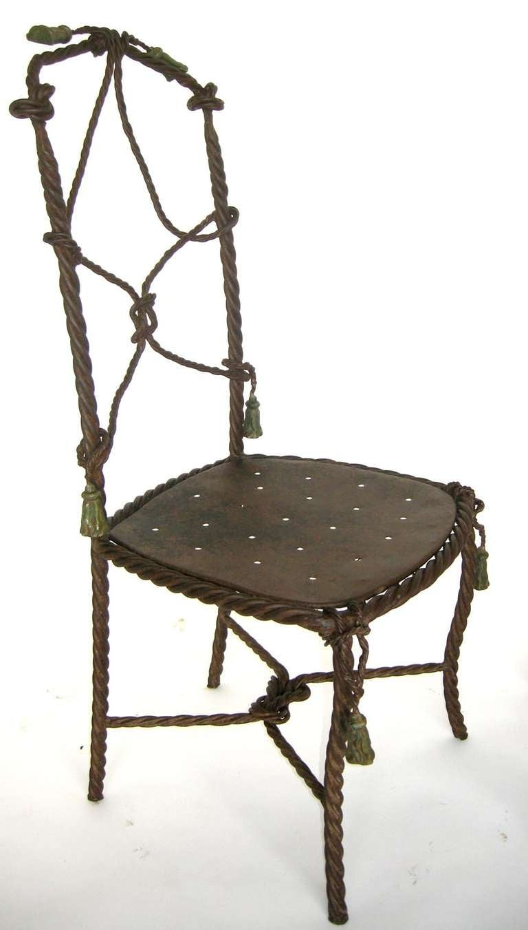 Antique french cast iron garden cafe chairs for sale at Cast iron garden furniture