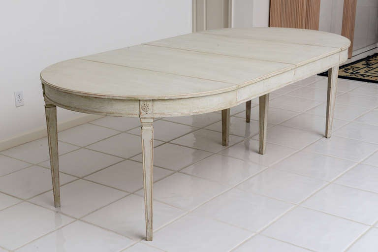 Scandinavian Swedish Antique Painted Dining Table image 6