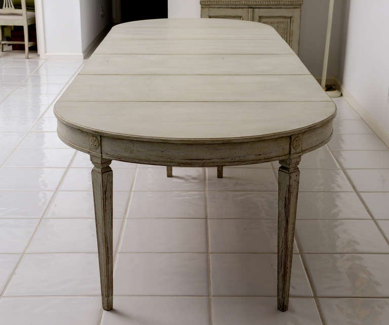 Scandinavian Swedish Antique Painted Dining Table image 7