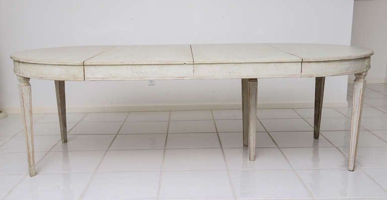 Scandinavian Swedish Antique Painted Dining Table image 9