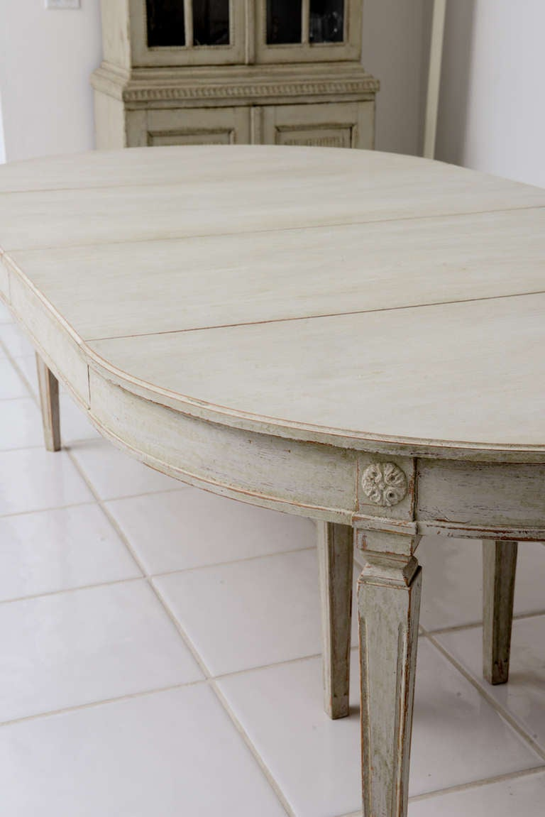 Scandinavian Swedish Antique Painted Dining Table At 1stdibs