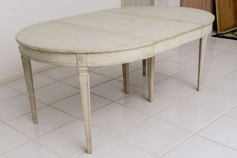 Scandinavian Swedish Antique Painted Dining Table image 2