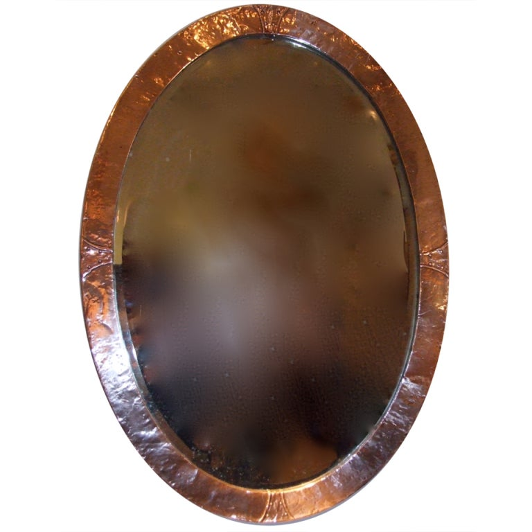 Arts And Crafts Style Mirror Bronze