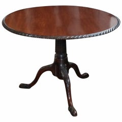 George II Mahogany Tilt-Top Tea Table