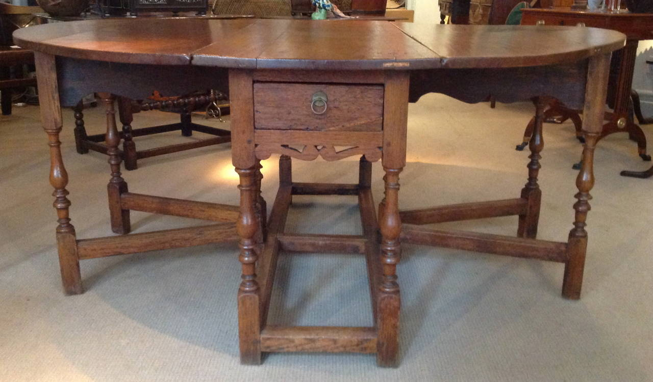 17th Century English Double Gate Leg Table For Sale At 1stdibs