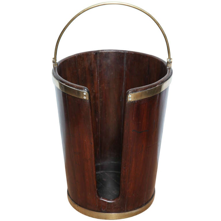 Georgian Mahogany Plate Bucket At 1stdibs