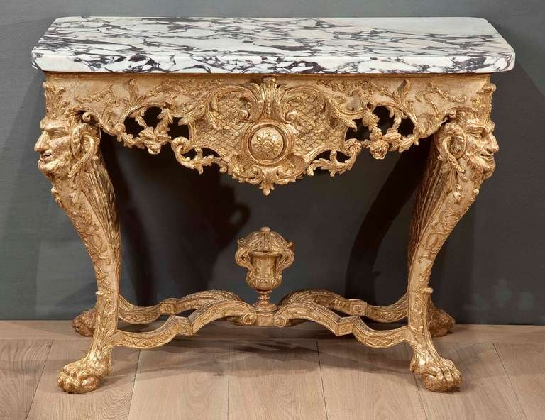 northern european baroque giltwood console table at 1stdibs. Black Bedroom Furniture Sets. Home Design Ideas