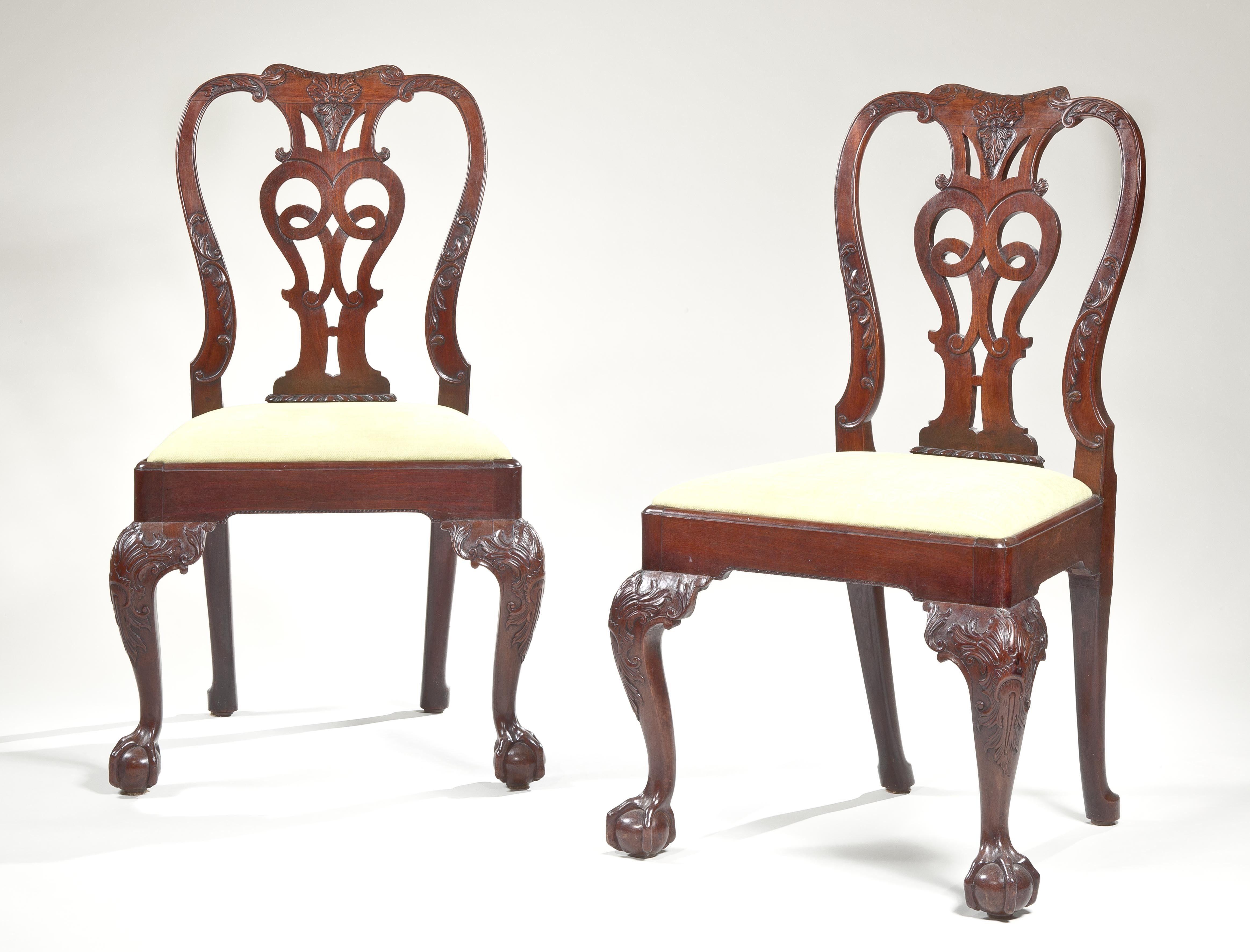 Superb Set of Eight George II Dining Chairs