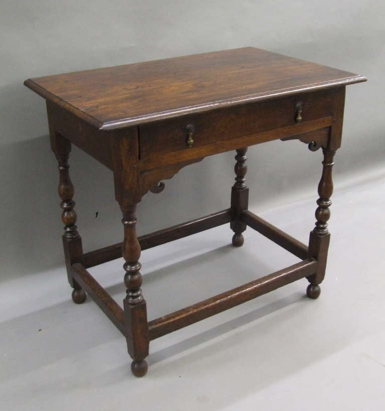 Early 18th Century English Oak Side Table 5