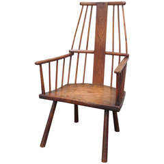 Rare Irish or West Country Comb Back Windsor Armchair