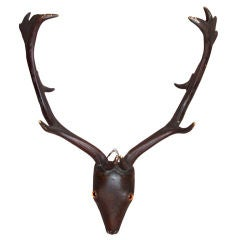 19th c English or Scottish Carved Folk-Art Trophy