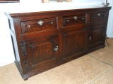 English 17th C Country House Low Dresser
