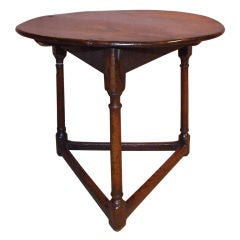Early 18th Century English Oak Cricket Table