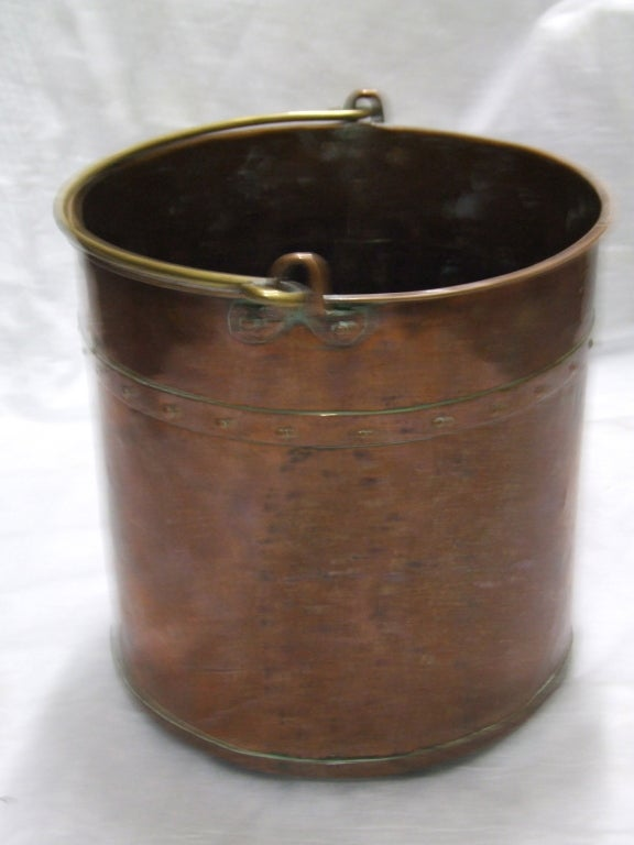 English Copper Apple Kettle With Rivetted Seams At 1stdibs