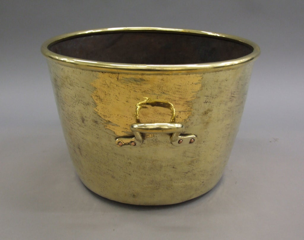 Early 19th Century Brass Two Handled Pot At 1stdibs