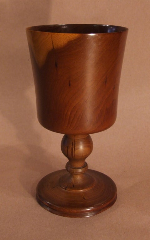 Finely Turned Yew Wood Goblet 3