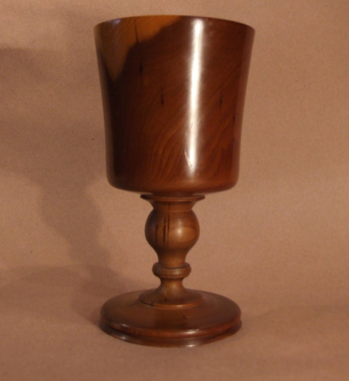 Finely Turned Yew Wood Goblet 4