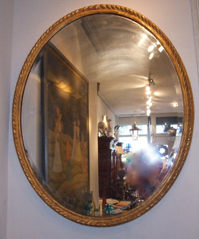 Large george iii oval gilt wood mirror for sale at 1stdibs Large wooden mirrors for sale