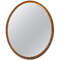 Large George III Oval Gilt Wood Mirror