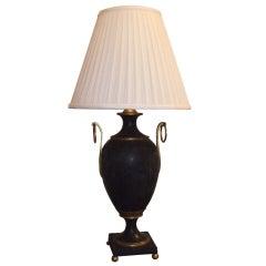 Bold 19th Century Tole Urn Lamp
