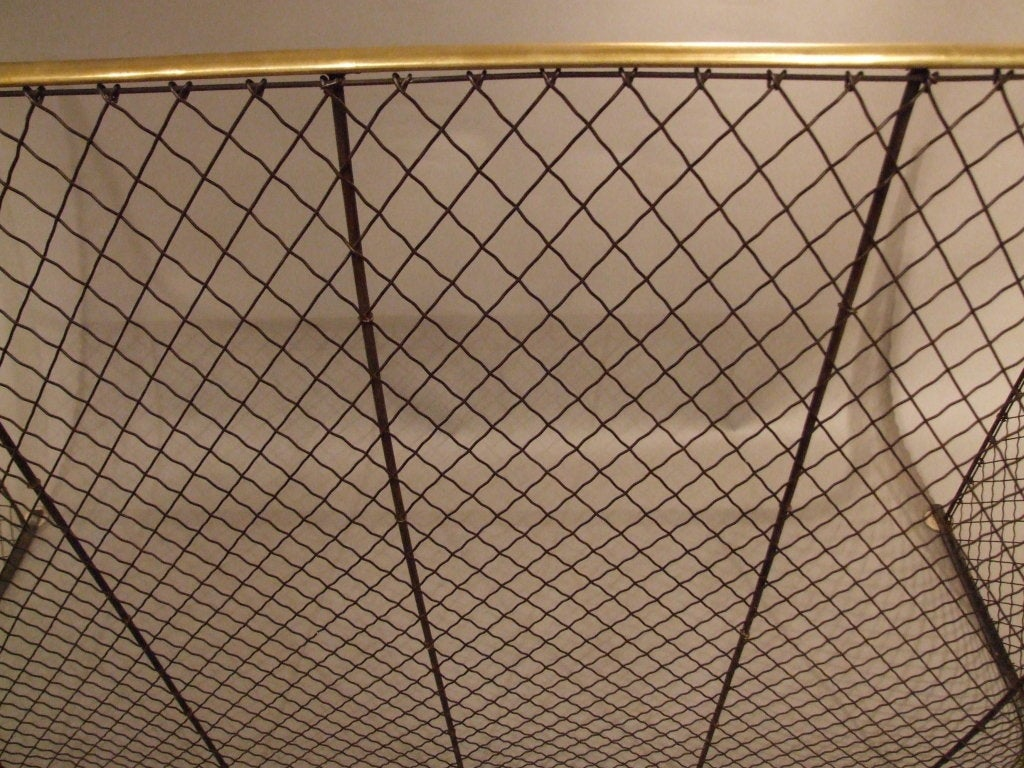 Overscale Wrought Iron Mesh Screen At 1stdibs