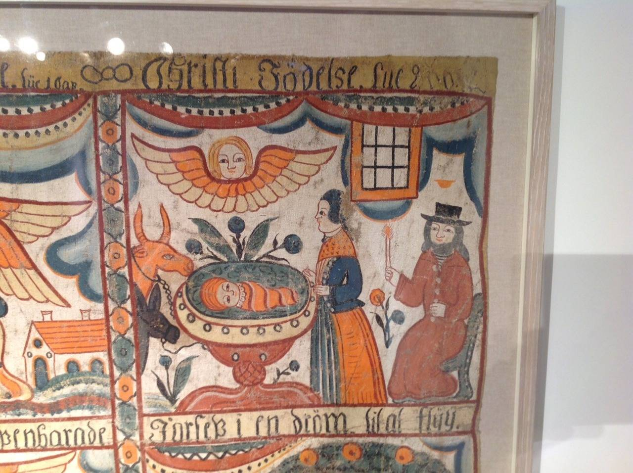 Swedish Folk Art Painting In Excellent Condition For Sale In New York, NY
