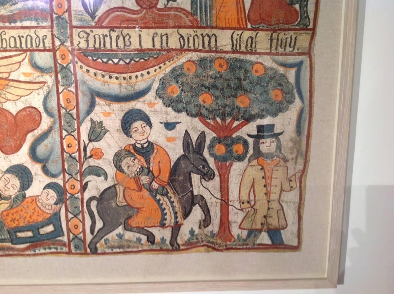Swedish Folk Art Painting For Sale 1