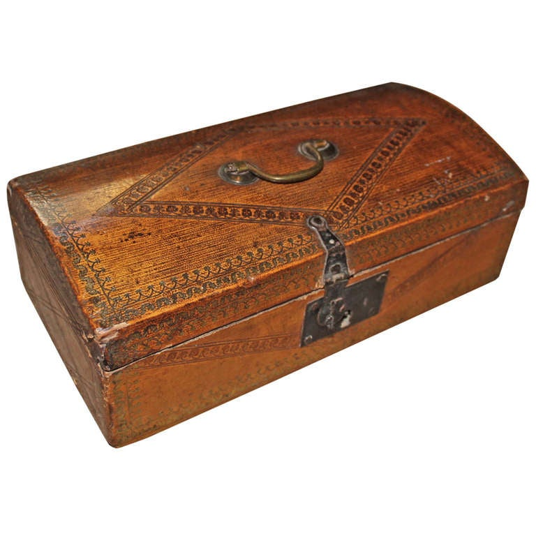 english tooled leather document box at 1stdibs With leather document box