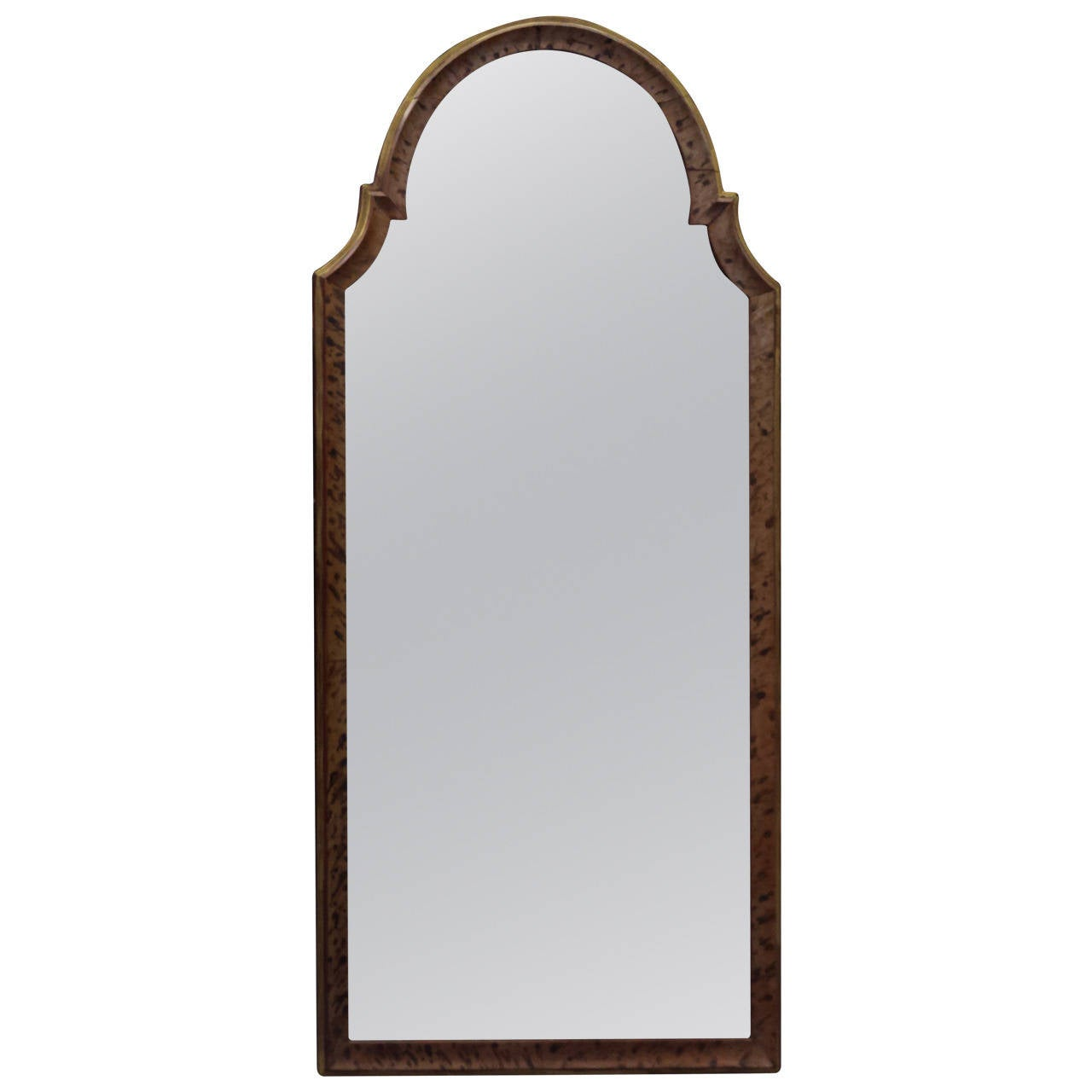 Faux-Painted Queen Anne Style Mirror For Sale