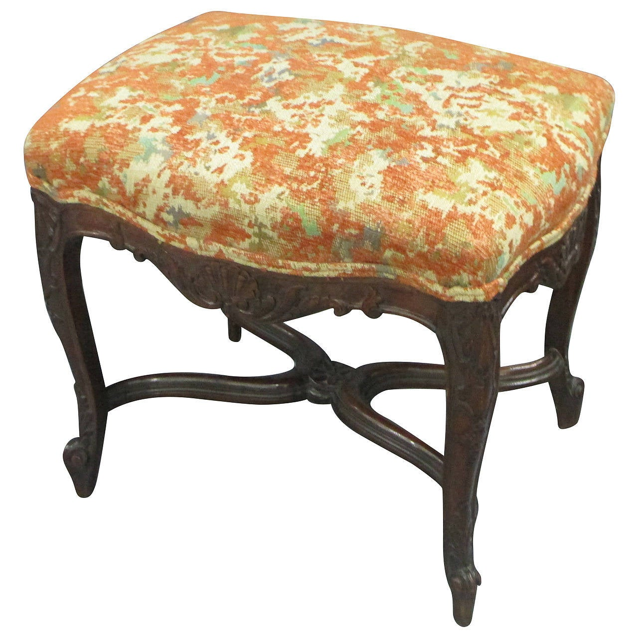 Regency Style Upholstered Bench