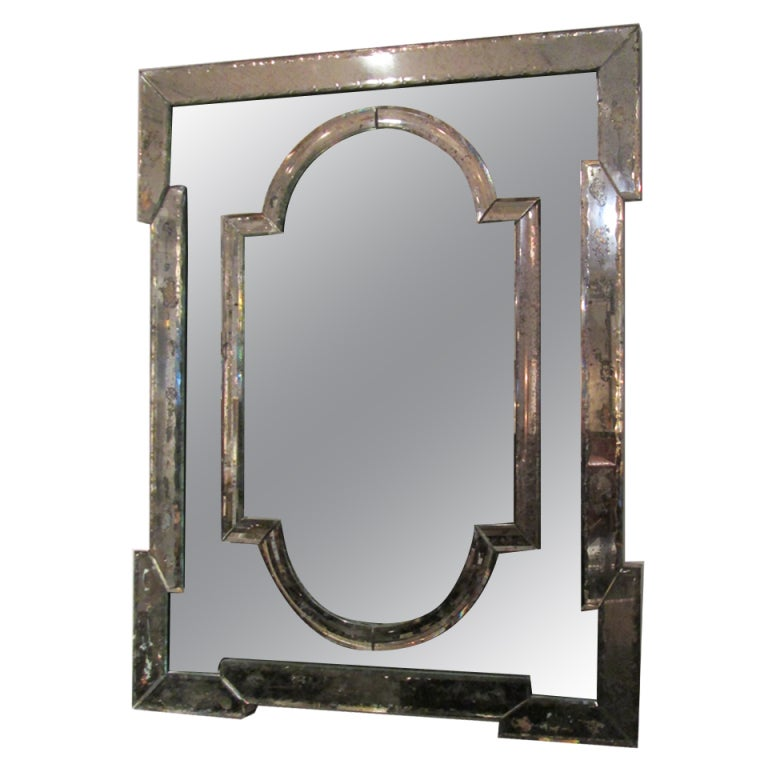 Hand-Etched Venetian Mirror at 1stdibs