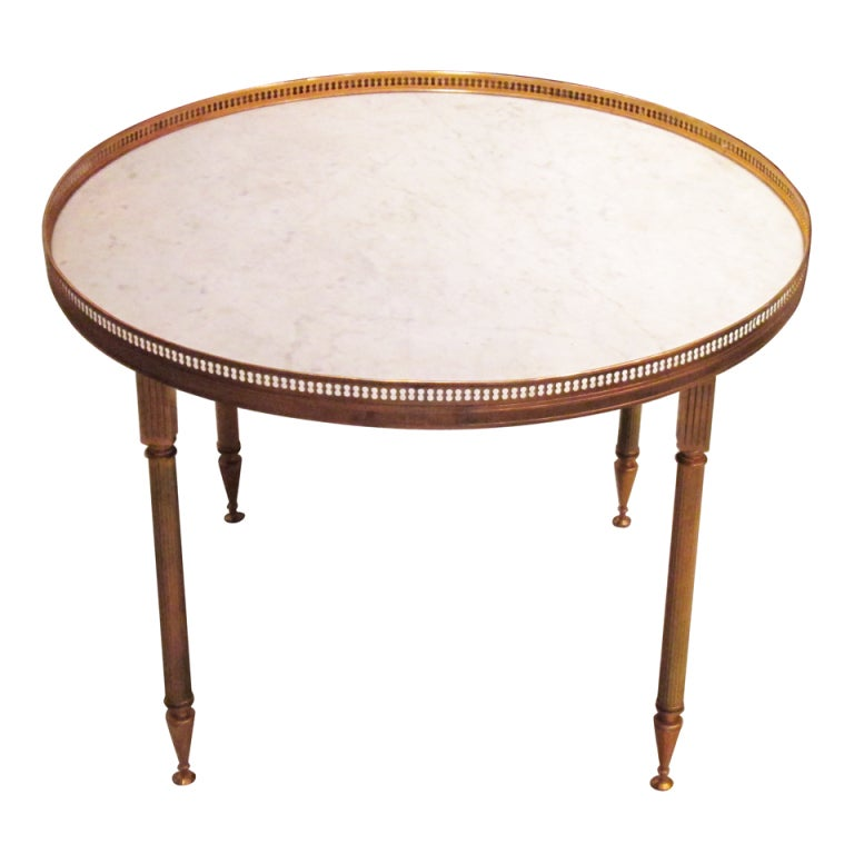New York Marble Coffee Table: Maison Jansen Marble Top Bronze Cocktail Table For Sale At