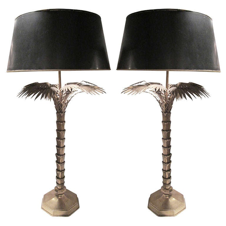 pair of bronze jansen palm tree table lamps is no longer available. Black Bedroom Furniture Sets. Home Design Ideas