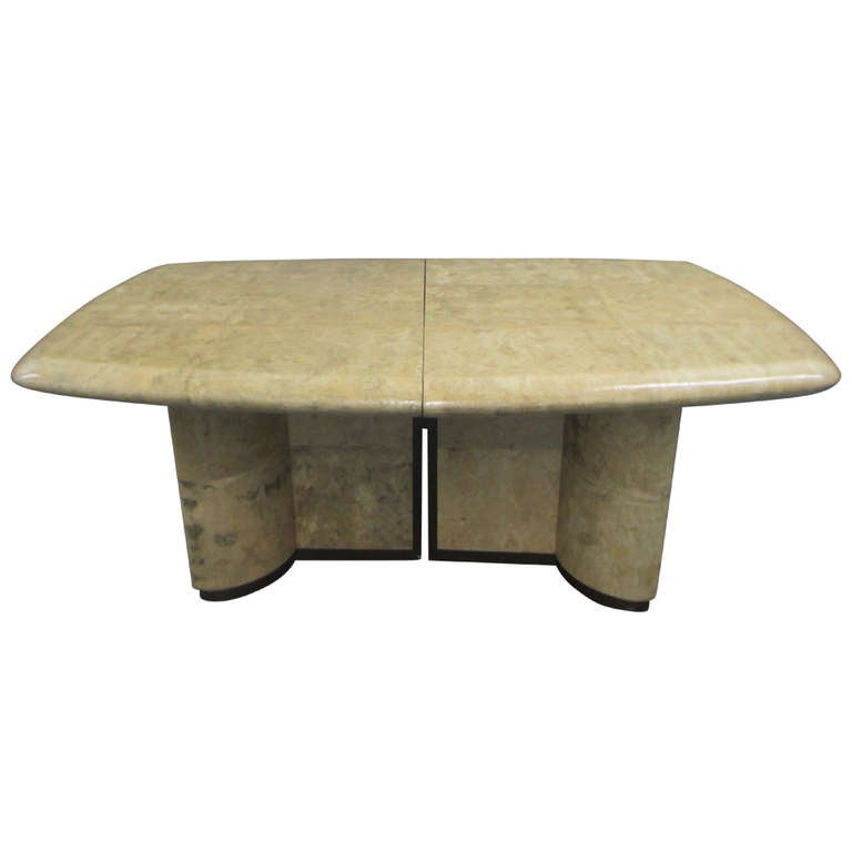 A Karl Springer Inspired Cork Dining Table At 1stdibs
