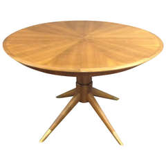 Erno Fabry Dining Table on Pedestal Base with Tapered Legs