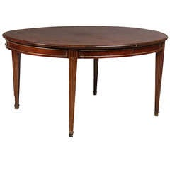 11 1/2 ft. Mahogany Louis XVI Style Table on Tapered Legs