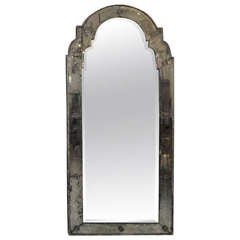 Antique Venetian Mirror in the Queen Anne Manner