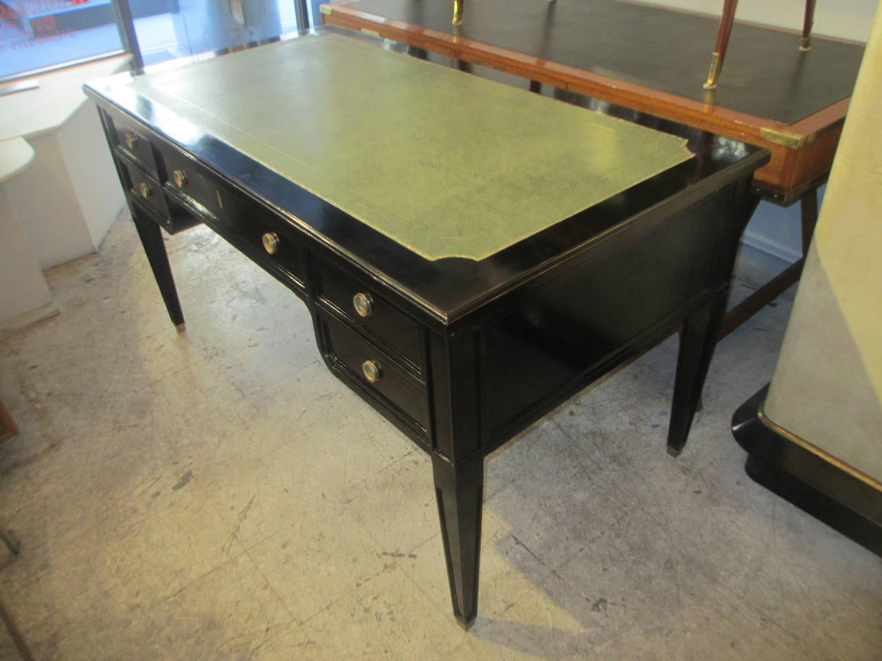 directoire style leather top bureau plat desk at 1stdibs. Black Bedroom Furniture Sets. Home Design Ideas