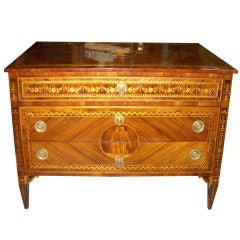Exceptional Period Neoclassical Inlaid Commode