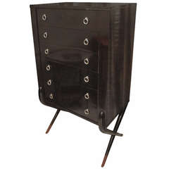 French 40's Lacquered High Chest