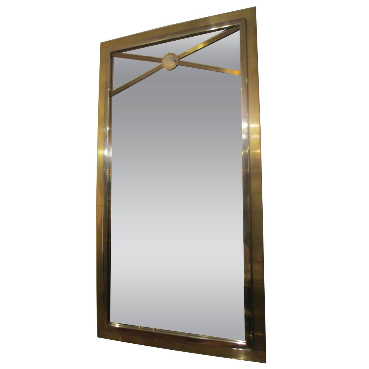 Bronze and chrome rectangular mirror for sale at 1stdibs for Bronze mirror
