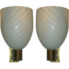 Pair of Venetian Wall Sconces by Mazzega