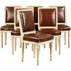 A set 6  Louis XVI-Style Dining Chairs