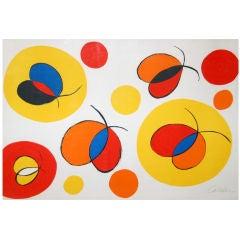 """Alexander Calder lithograph print """"Untitled (Fireflies)"""""""