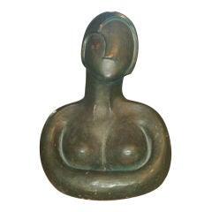Art Deco Terracotta Bust of a Woman